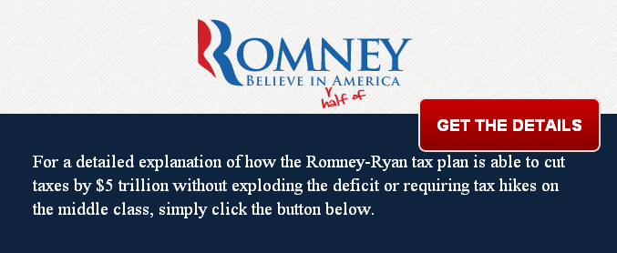 Finally, the Details on Romney's $5 Trillion Tax Cut